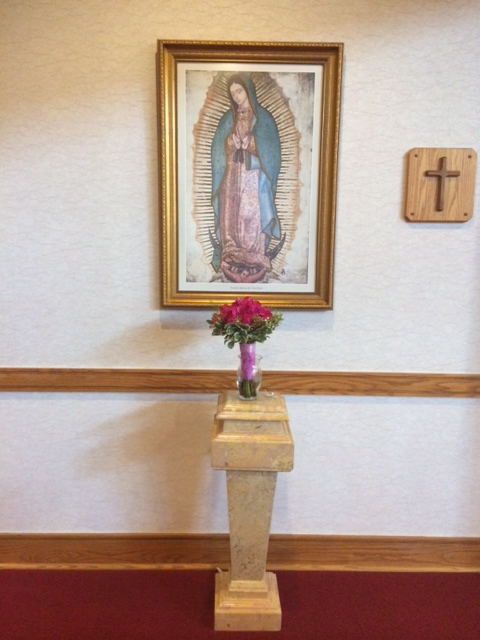 Bouquet is usually the same color as the Quinceañera's dress, and it is left at the altar as an offering.