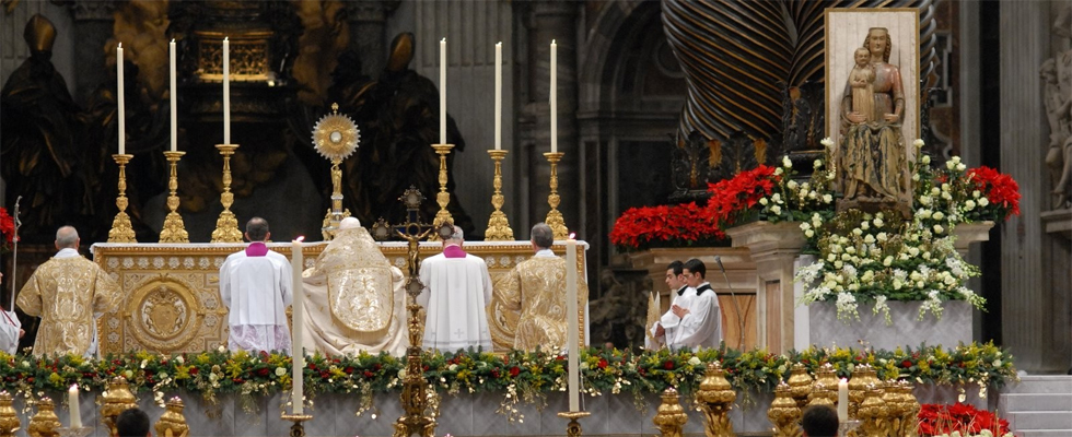 Holy Father in Eucharistic Adoration