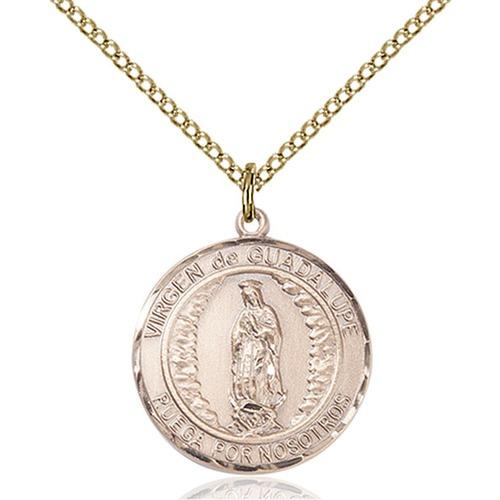 14kt Gold Virgen de Guadalupe Medal