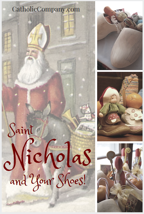 A popular Advent tradition in Europe is children awaking on December 6th to find treats and toys stuffed in their shoes for St. Nicholas' Day.