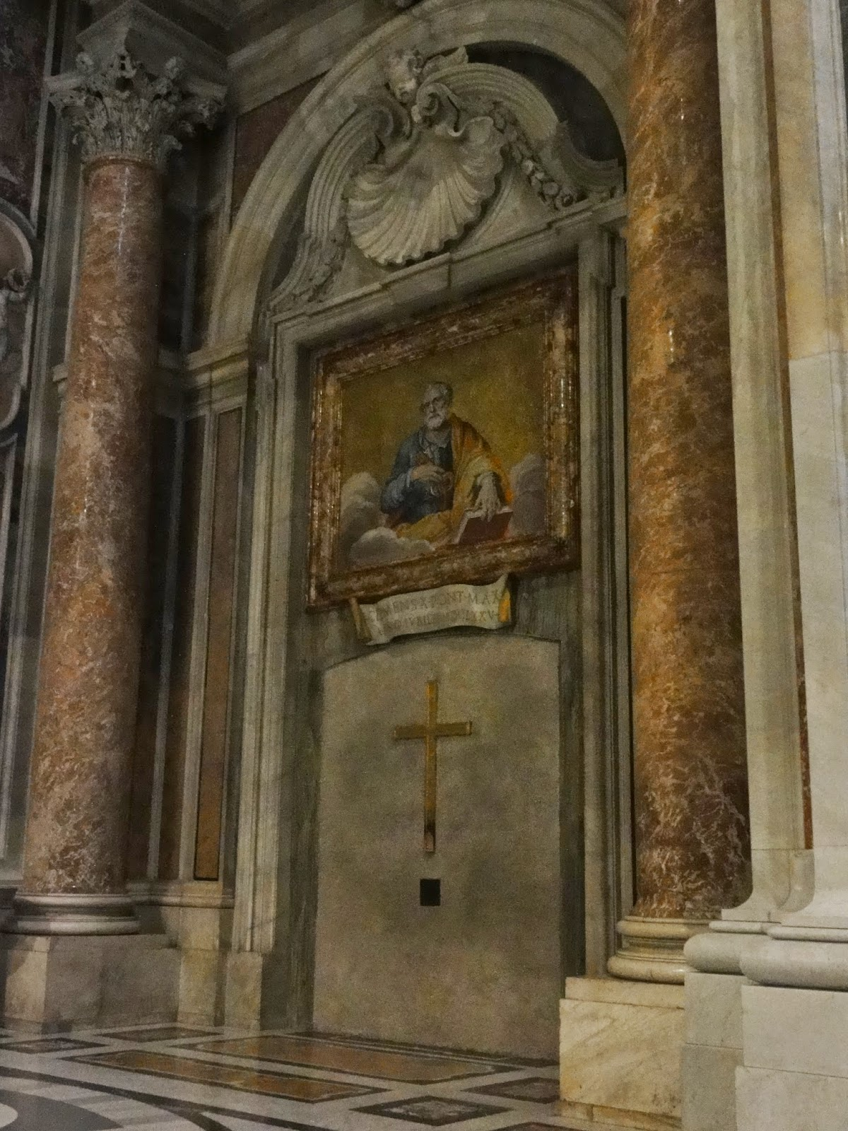 The sealed Holy Door at St. Peter's Basilica
