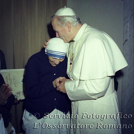 Mother Teresa and John Paul II
