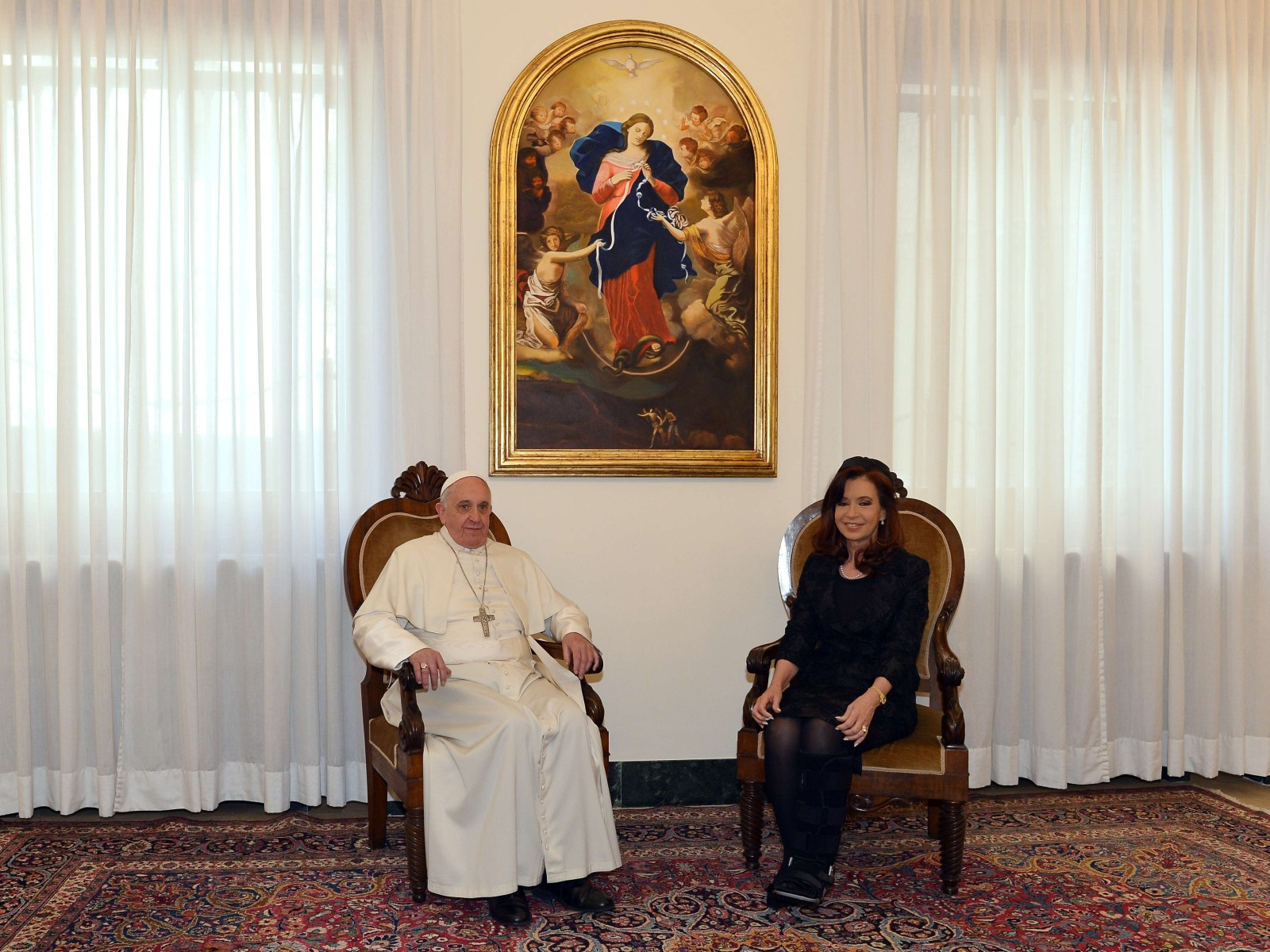 Pope Francis with Argentina president, Cristina Kirchner