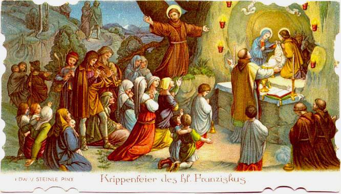 St. Francis nativity Holy Card