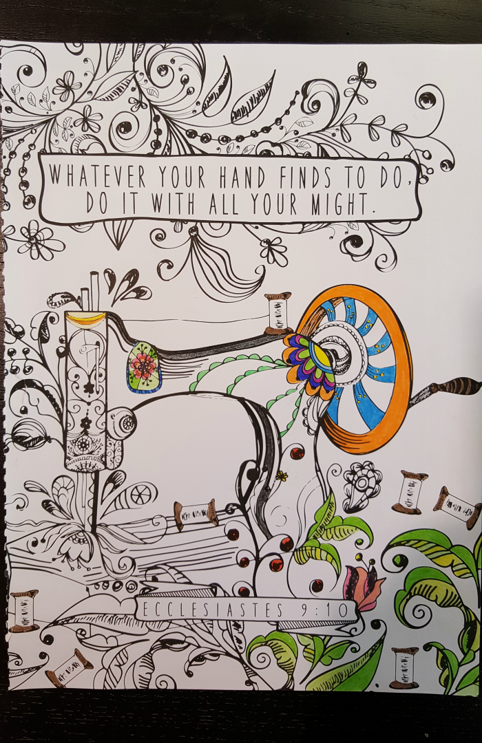 inspirational adult coloring book page