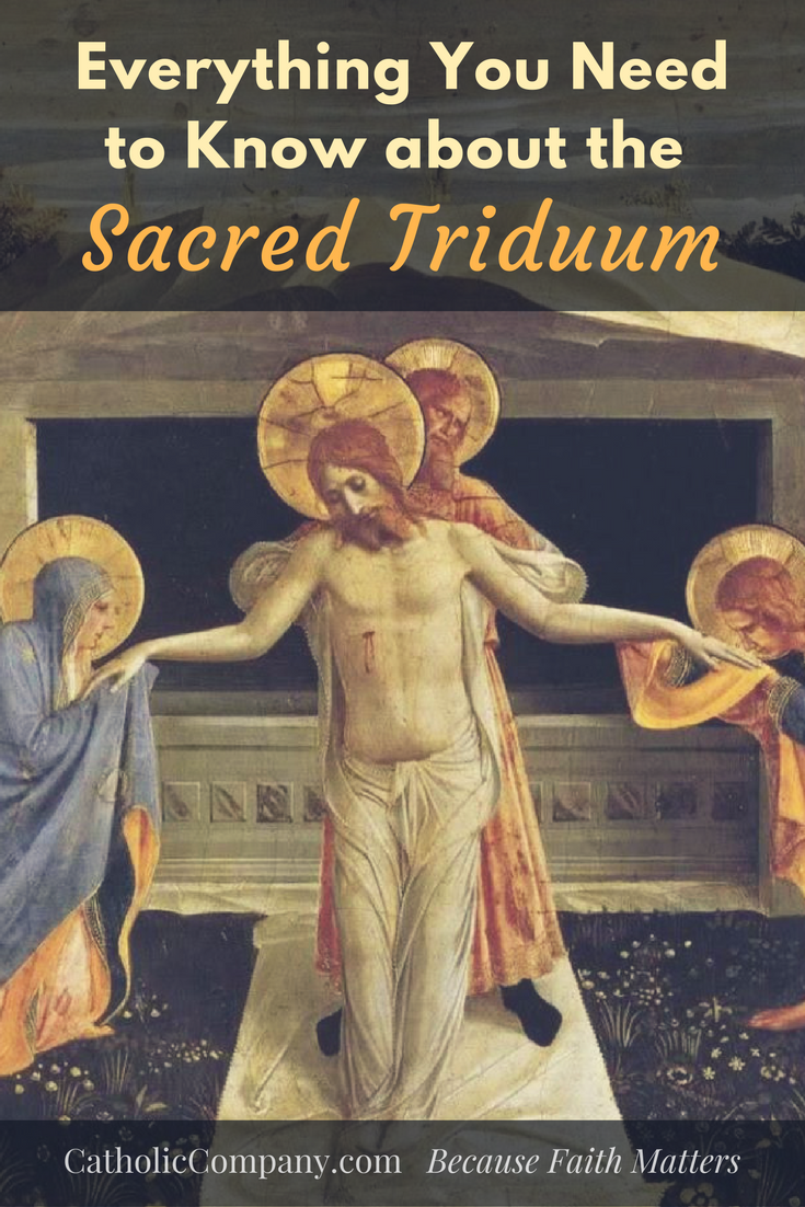 Here is a breakdown of each of the three days that make up the Easter Triduum.