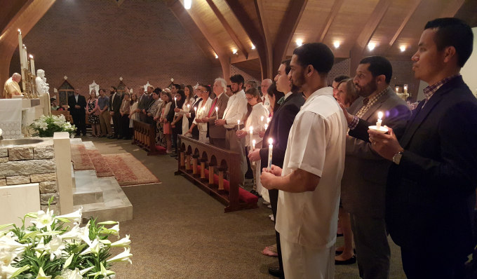 RCIA at Easter Vigil