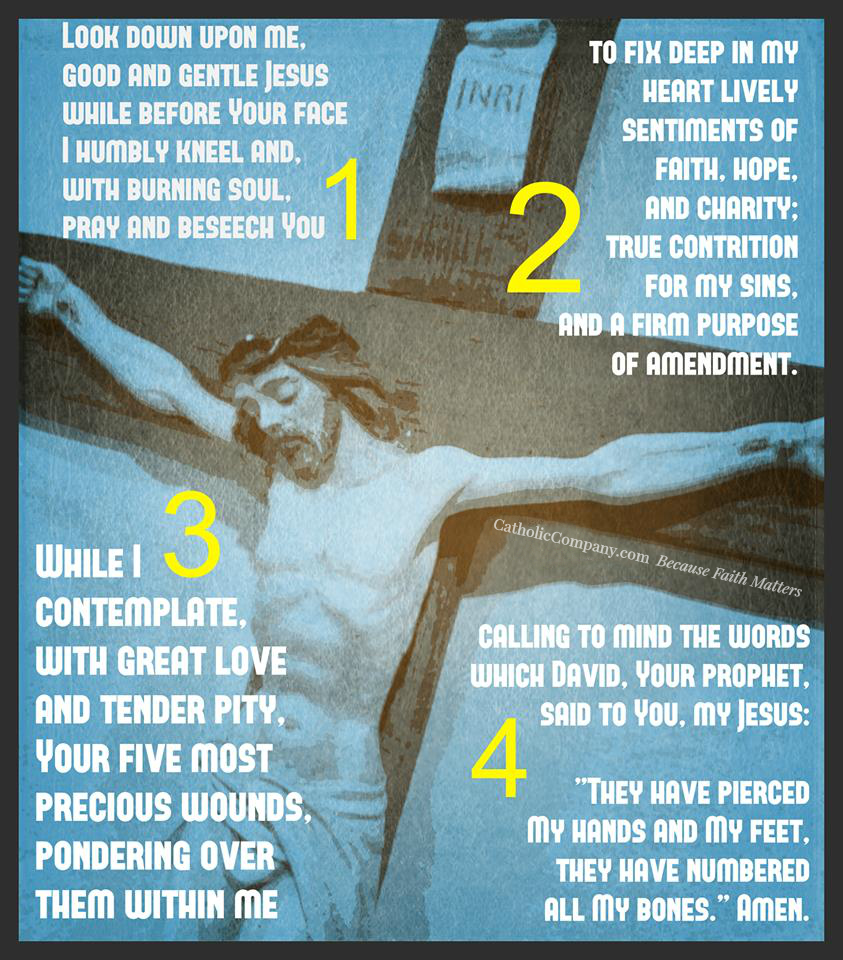 Traditional Catholic Prayer to Recite Before a Crucifix | GetFed