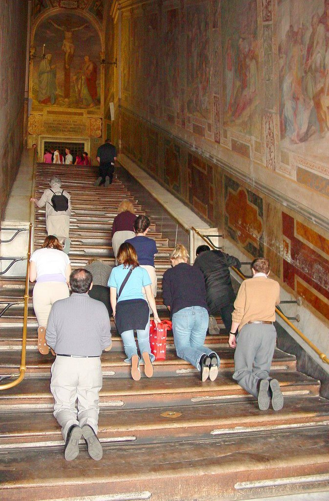 Scala Santa or Sacred Stairs in Rome, Italy. Image source: http://ivarfjeld.com