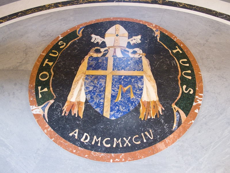 Pope St. John Paul's motto and coat of arms