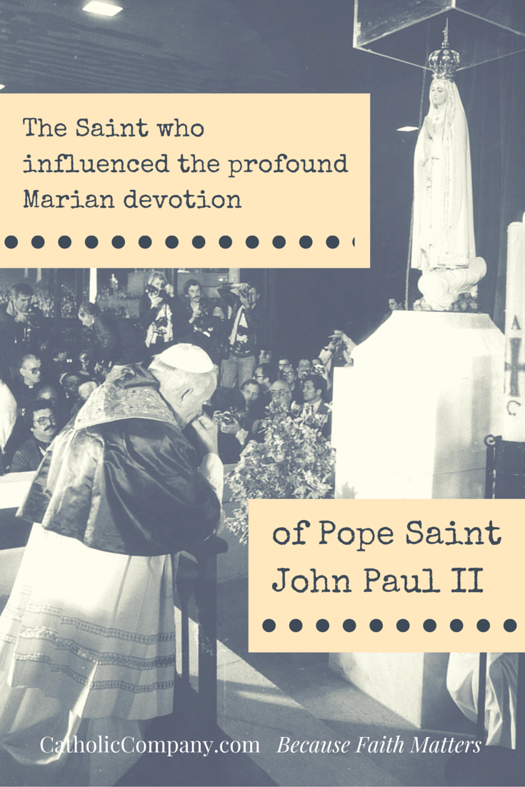 Pope St. John Paul II chose his papal motto from the writings of this saint.