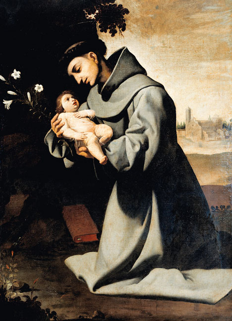 Saint Anthony, holding the love of his life: The Christ Child