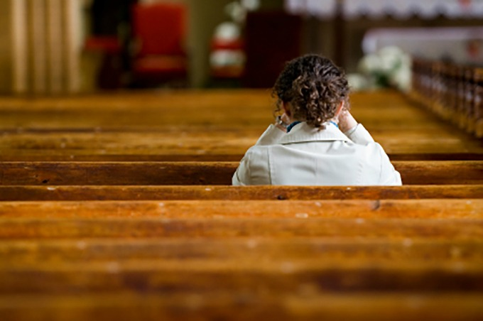 Moms should attend week-day Mass by themselves once in a while, if it is possible