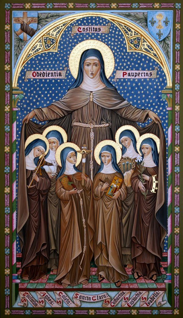 Many holy women, such as Saint Colette, imitated closely their foundress, Saint Clare