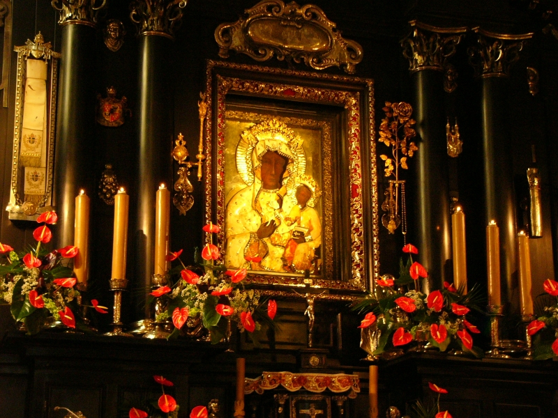 Black Madonna Icon of Czestochowa venerated at the Jasna Gora Monastery in Poland.