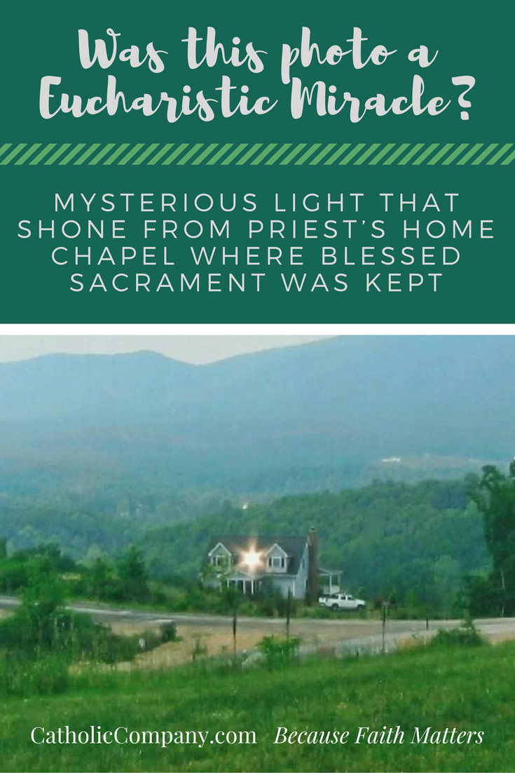Read a priest's account of this bright light coming from his home chapel.