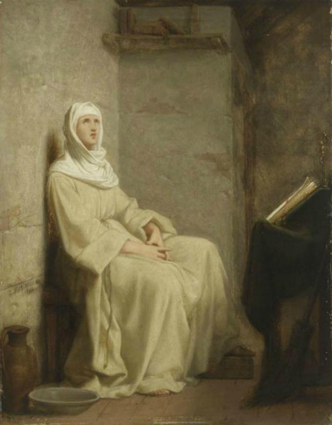 When Saint Clare came away from prayer, her face was radiant with light