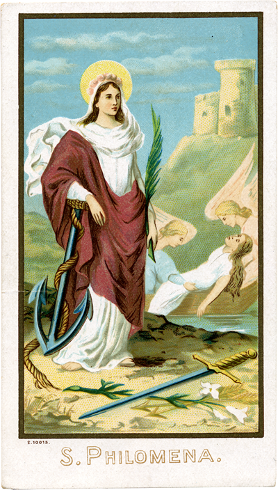 Diocletian attempted to kill Saint Philomena by a variety of ways, but God prevented it by miraculous means until He was ready to call her home.