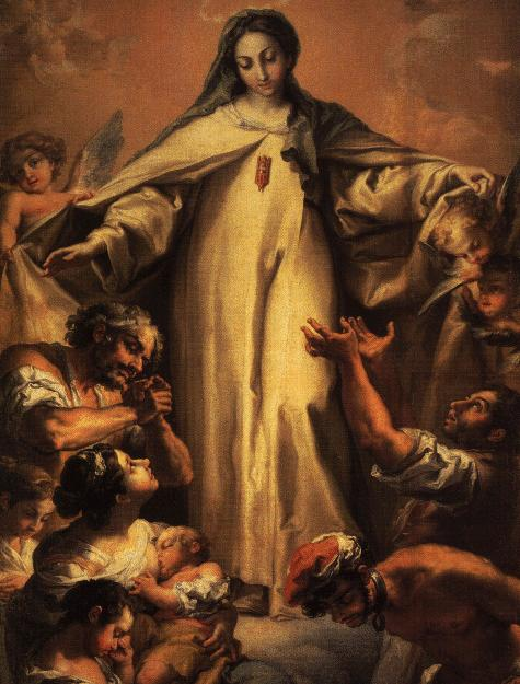 Our Lady of Ransom (13th century) interceding for Christians enslaved by Muslims