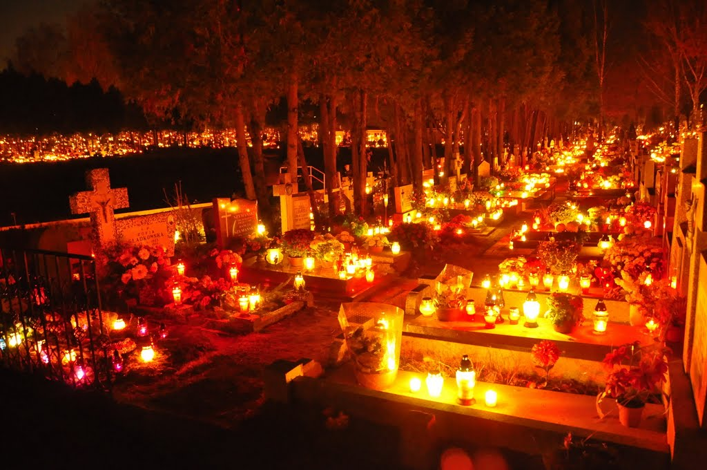 Honoring the Dead: a graveyard decorated for All Souls Day