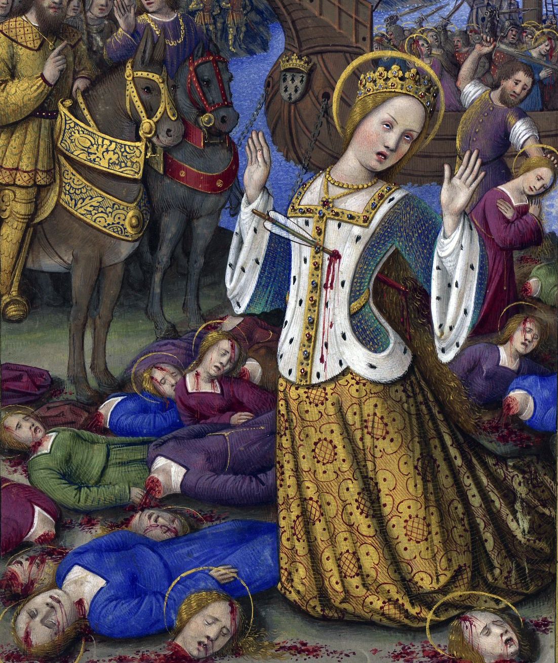 The matyrdom story of St. Ursula