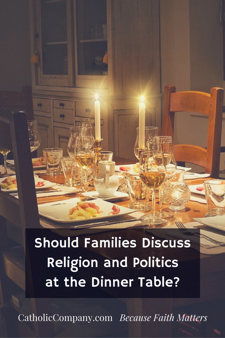 Should Families Discuss Religion and Politics at the Dinner Table? Fr. Leo Patalinghug answers