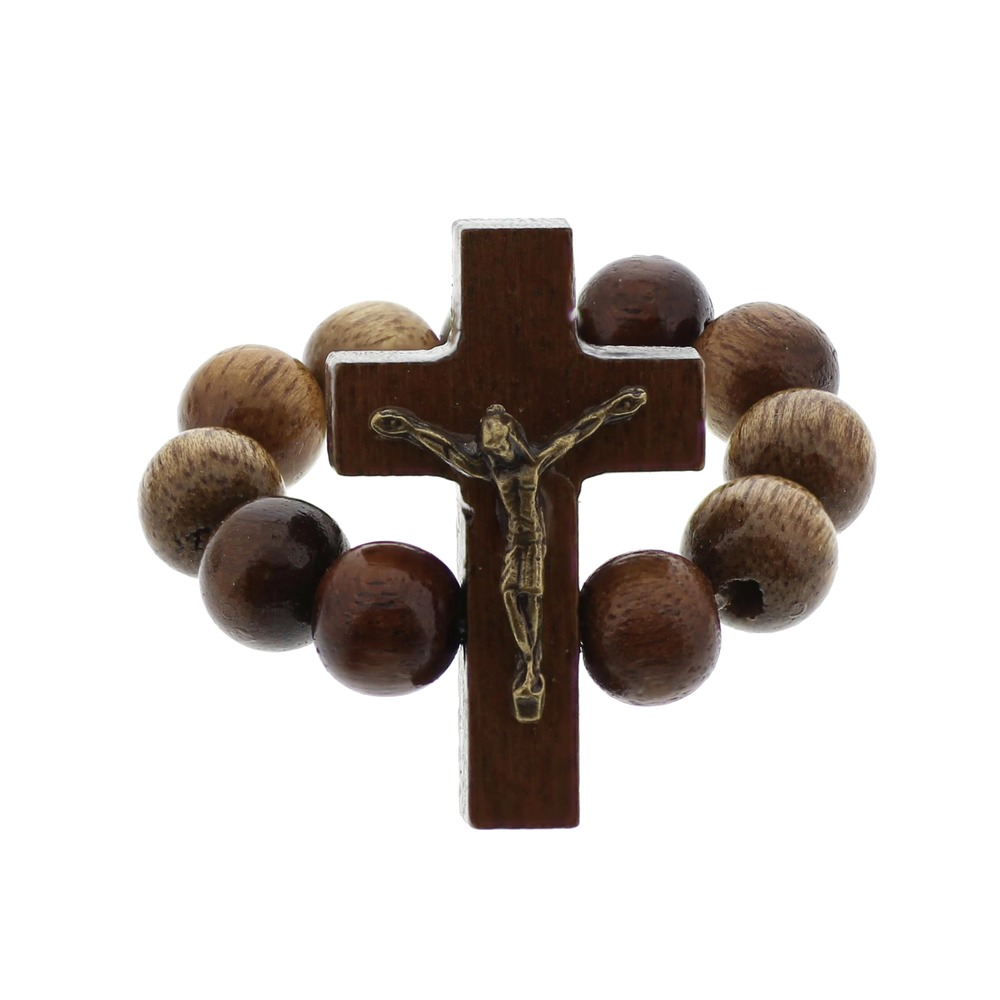 Wooden Rosary Ring