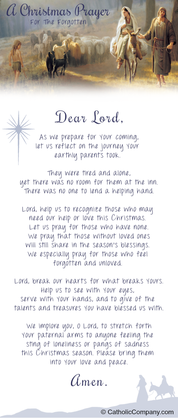 A Christmas Prayer for the Forgotten | GetFed | GetFed
