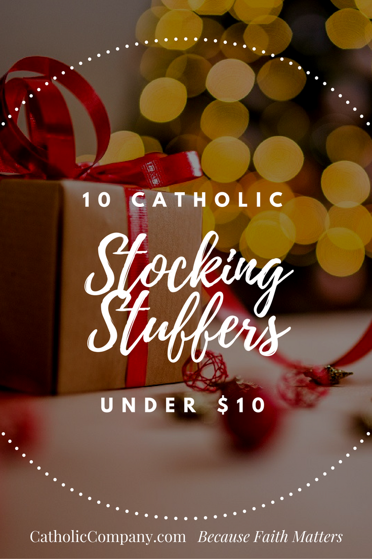 Catholic stocking stuffer ideas to bring religious inspiration into the holidays.