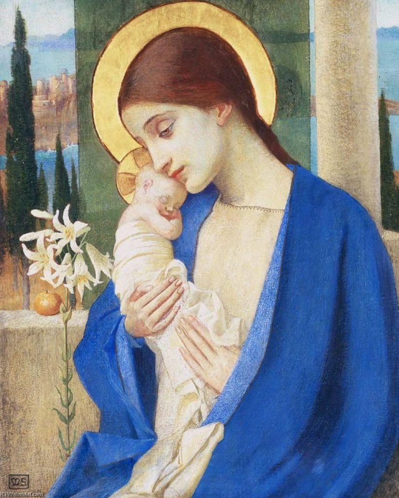 Marianne Stokes, Madonna-and-Child.
