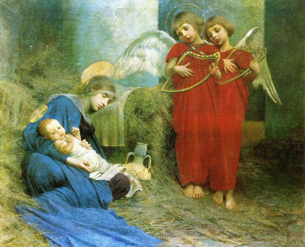 Marianne_Stokes_-_Angels_Entertaining_the_Holy_Child