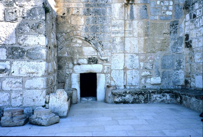 Entryway to the Church of the Nativity at Bethlehem