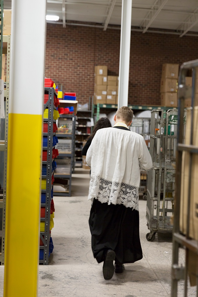 Epiphany Blessing at The Catholic Company warehouse and offices
