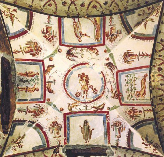 Ceiling from the Catacombs of St. Priscilla