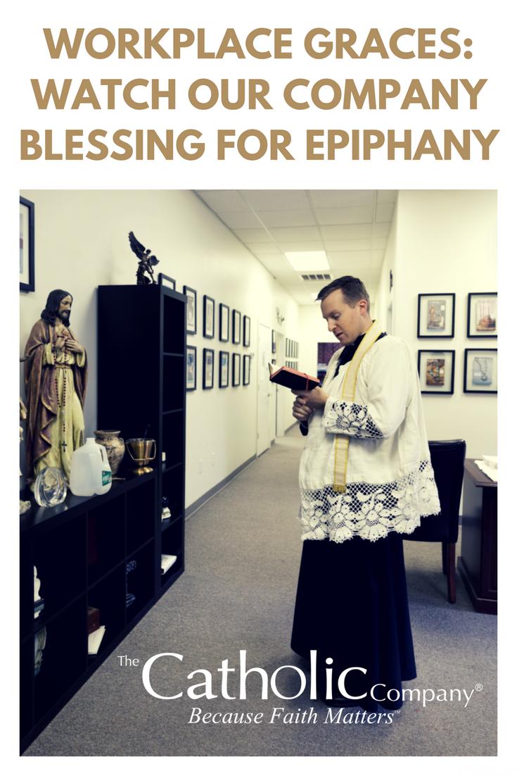 Photos & Video: Epiphany Blessing for The Catholic Company Warehouse