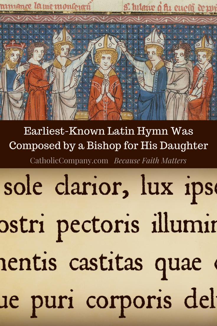 St. Hilary of Poitiers, Doctor of the Church and poet, wrote hymns to help people grow in their faith.