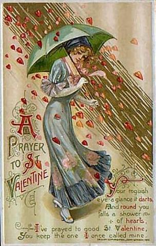 Vintage St. Valentine's Day Card