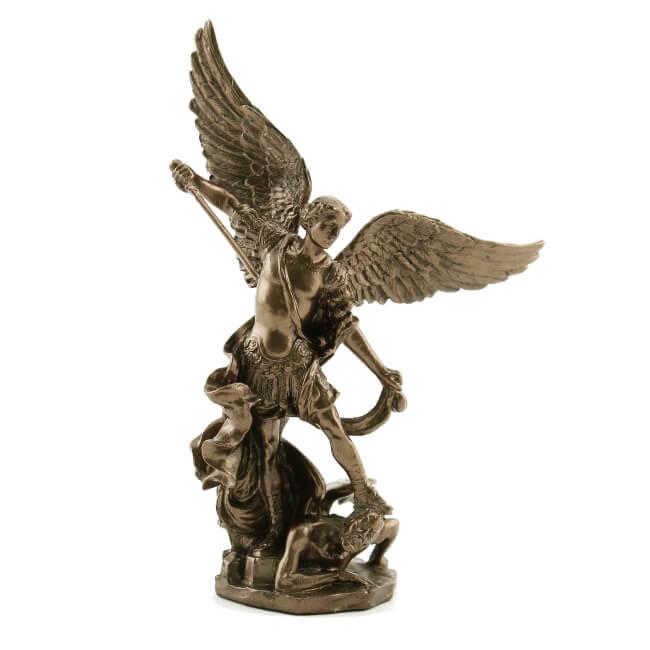 Bronzed St. Michael Statue