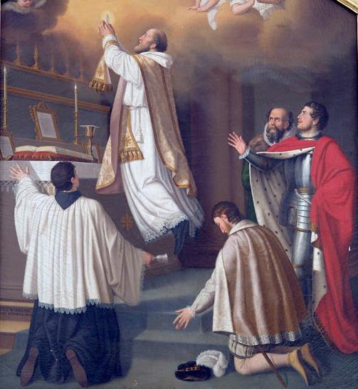St. Joseph of Cupertino levitating