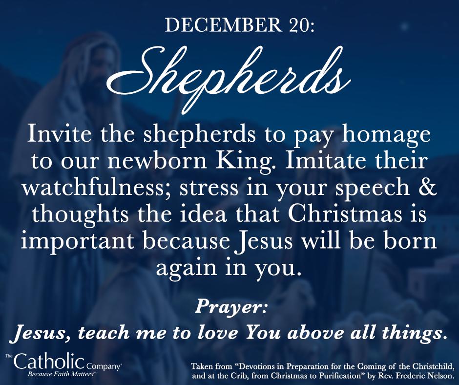 The Spiritual Christmas Crib: Day 20