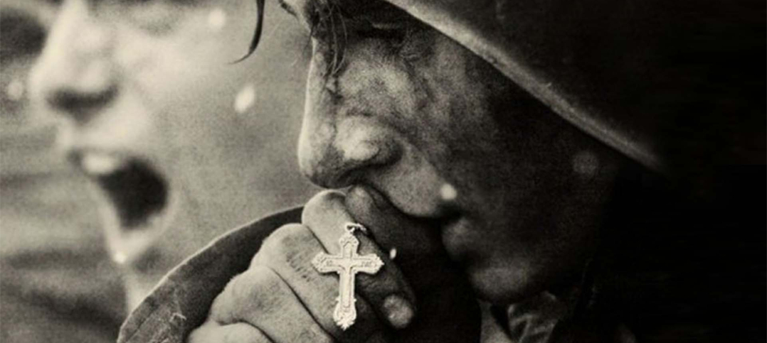 World War II Soldier with rosary