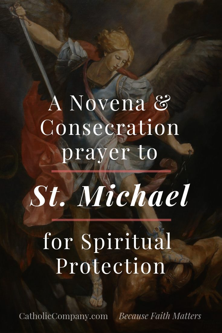 photograph relating to St. Michael the Archangel Prayer Printable identify St. Michael Novena Consecration Prayer for Religious