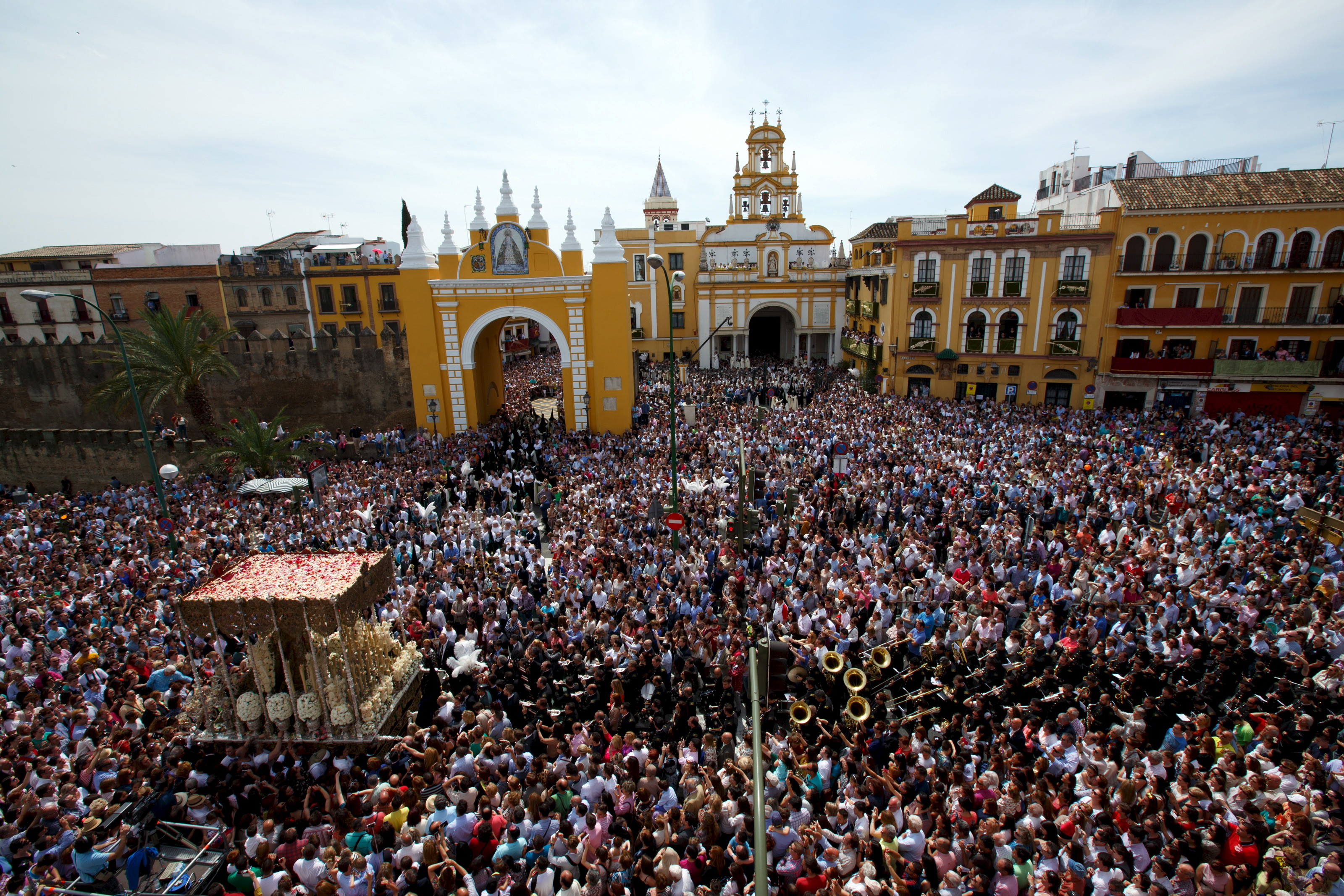 Holy Week Procession in Seville, Spain. Credit: Marcelo del Pozo/REUTERS.