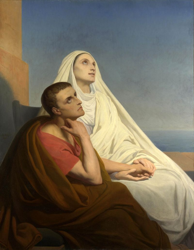 St. Monica with her son St. Augustine