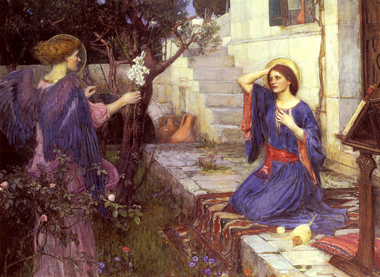 The Annunciation by John William Waterhouse (1914)