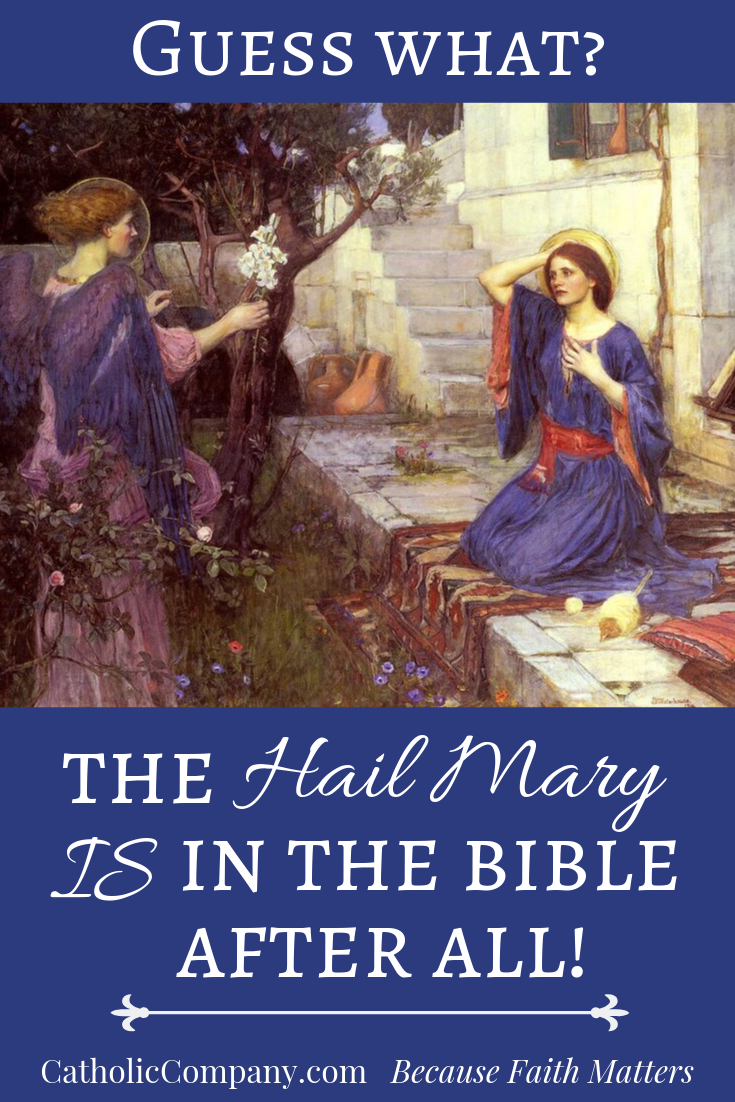 Hail Mary Pinterest graphic