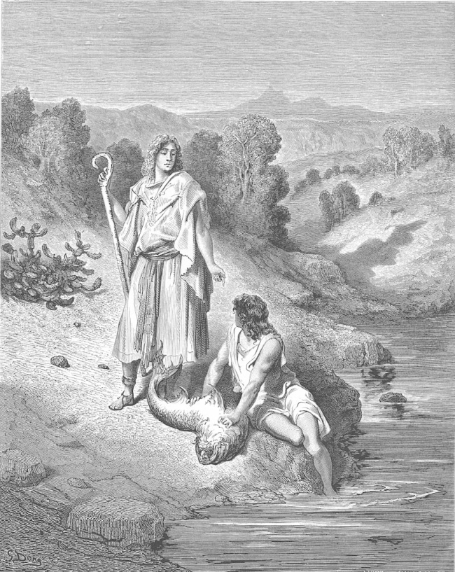 St. Raphael rescuing and teaching Tobias