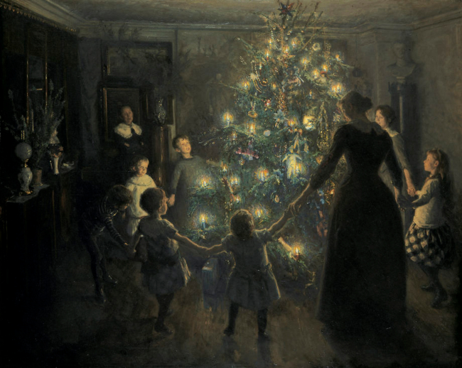 Delight of the Christmas tree