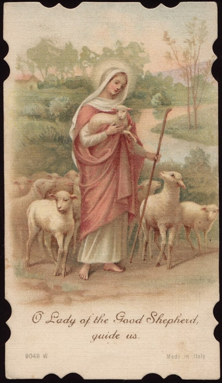 Our Lady of the Good Shepherd - Vintage Prayer Card