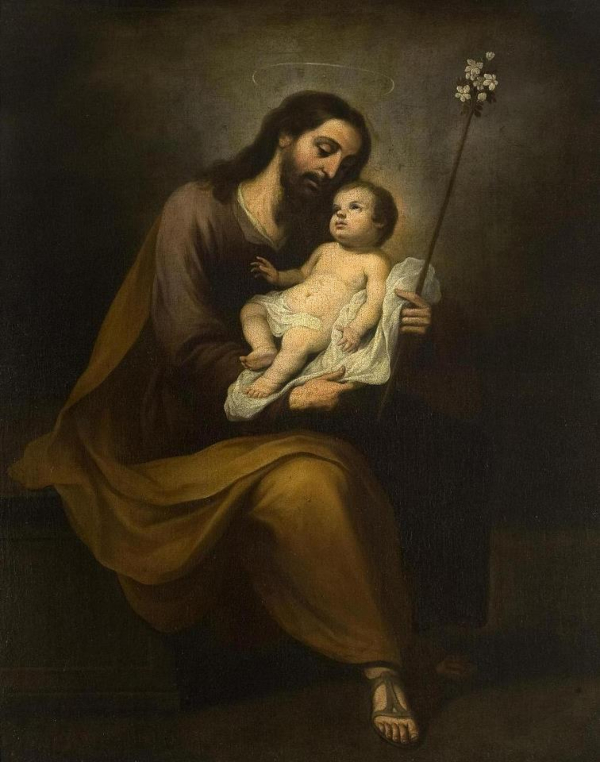 Joseph with the Child and the Flowering Rod, Alonso Miguel de Tovar